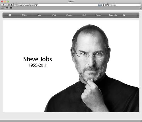 Steve Jobs ricordat sul sito Apple