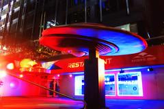 Mars 2112 (Gary Burke.) Tags: nyc newyorkcity mars ny newyork night photoshop canon buildings eos rebel lights restaurant evening colorful neon manhattan space broadway ufo midtown timessquare scifi dining sciencefiction spaceship gothamist flyingsaucer dslr hdr themerestaurant theaterdistrict mars2112 2112 photomatix garyburke cs5 klingon65 t1i canoneosrebelt1i