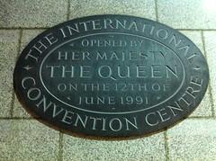 Photo of International Convention Centre black plaque