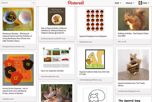 Pinterest - Squirrel and Nut Activities