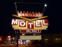 Niagara Falls, ON Cadillac Motel sign (army.arch) Tags: city ontario canada sign night photography niagarafalls neon ghost motel on