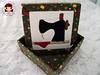 Patch embutido Máquina (Line Artesanatos) Tags: encomendas caixasforradas patchworkembutido