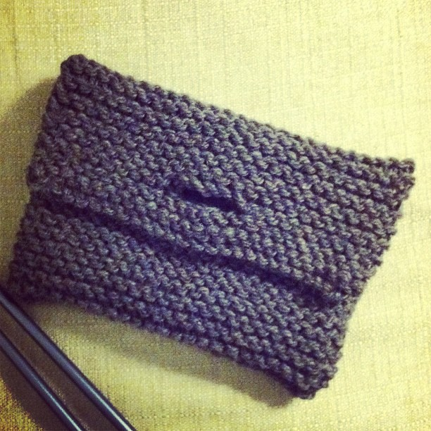 Little clutch before felting