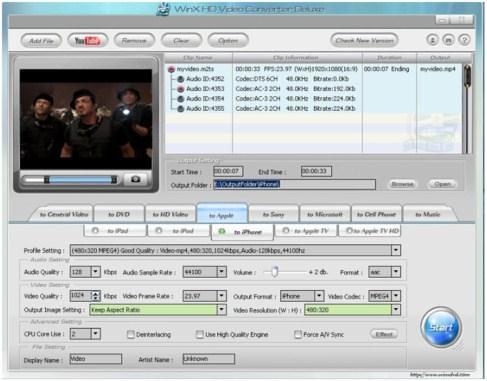 WinX HD Video Convertor Deluxe