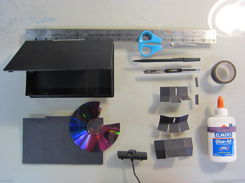 Everything necessary (more or less) to make a DIY Spectrometer