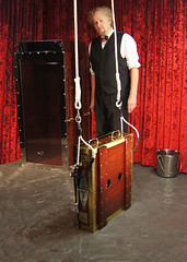 Houdini's Chinese Water Torture Cell (Dayle Krall:Most Accomplished Female Escape Artist) Tags: water television escapes biopic houdini adrianbrody historychannel jimcollins breathhold chinesewatertorturecell richardsherry hardeen kristenconnolly daylekrall femaleescapeartist ladyhoudini sherryandkrallmagic movies2014 historychannelhoudini houdinibiography