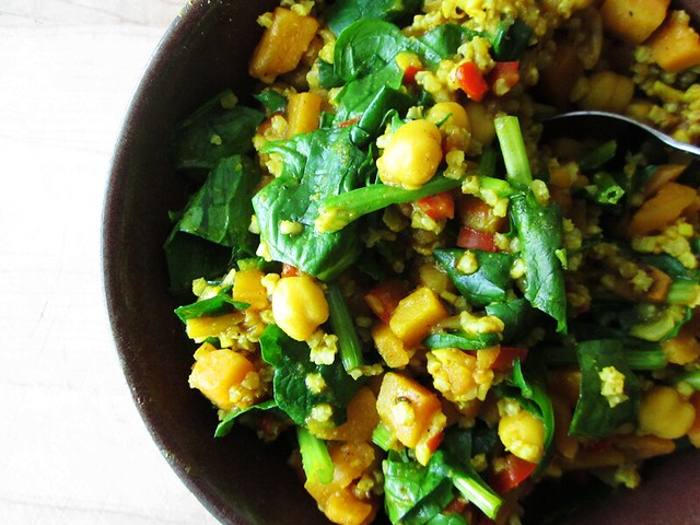 Indian inspired chickpea dish