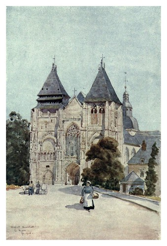 026-Nôtre Dame de la Coûture en Le Mans-Cathedral cities of France 1908- Herbert Menzies Marshall