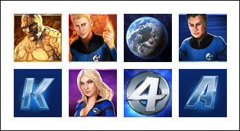 free Fantastic Four 50 Lines slot game symbols