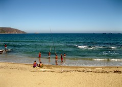 La pêche (hialiya) Tags: sea beach algeria fishing sand waves skikda
