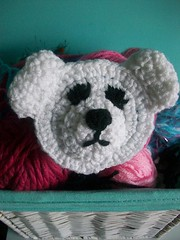 Polar bear hair clip (Mooy) Tags: bear cute animal crochet polarbear kawaii hairclip