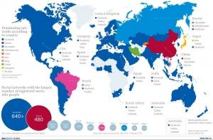 mapa mundi redes sociales