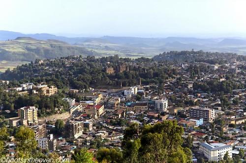 Gondar, with the Royal Enclosure looming