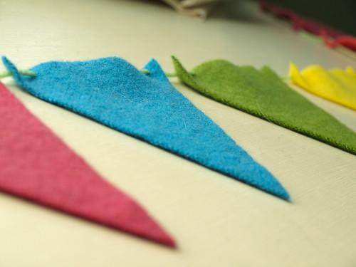 wool felt pennants.