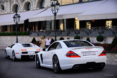 Supercars (Willem Rodenburg) Tags: world summer sun white 3 black car photoshop square 50mm nikon 33 bs baloon 4 picasa fast casino monaco sl most turbo mercedesbenz 164 series pearl mm expensive 50 limited edition bugatti exclusive supercar fastest 65 amg sl65 willem w16 supercars combo veyron lightroom in d90 cs5 blackseries hypercar rodenburg supercombo ubercombo
