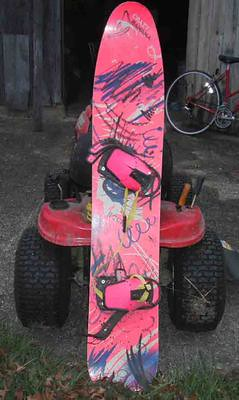 Older snowboard, slightly used