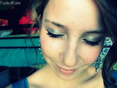 Homecoming. (FadedKate) Tags: woman girl earings dance pretty lashes curls homecoming fancy eyeshadow katiebowers fadedkate