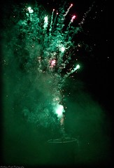 After Effect... (MFotography*) Tags: light hot green night digital canon dark fire eos bucket colours fireworks smoke trails sparkle burning ef28135mm sparks 500d