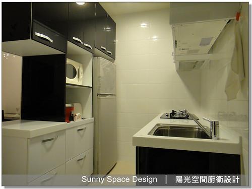 廚房設計-土城裕民路李先生二字形廚具-廚具大王林易延-陽光空間廚衛設計