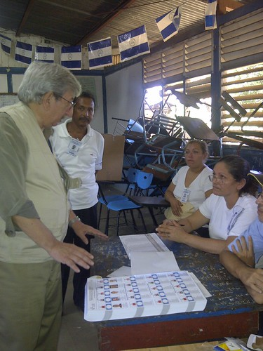Chief of MEA/OAS Tours Voting Sites in Nicaragua