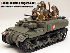 "Winner- Brickarms forums October 2011 MOTM (""Rumrunner"") Tags: world 2 war gun lego brodie wwii helmet machine canadian kangaroo ww2 apc ram carrier worldwar2 personnel armoured brickarms m1919"