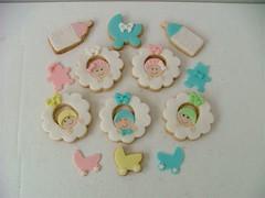 Guirlandas (Biscoito & Arte) Tags: menino chdebeb lembranamaternidade biscoitodecorado bolachadecorada