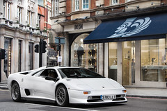 SVR. (Alex Penfold) Tags: auto street camera white london cars alex sports car sport mobile canon photography eos photo cool flickr driving image awesome flash picture super spot harrods knightsbridge exotic photograph spotted hyper diablo lamborghini supercar sv spotting exotica sportscar sportscars supercars lambo penfold svr sloane spotter 2011 llt hypercar 60d hypercars alexpenfold s783 s783llt