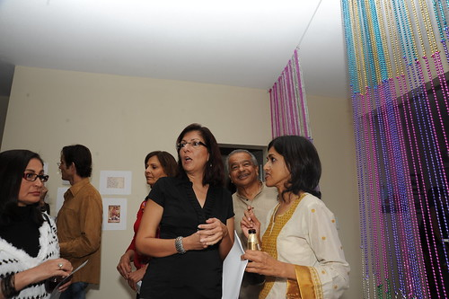 Sehba Sarwar visting with guests