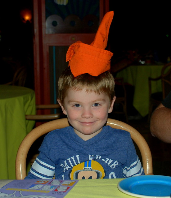 Napkin Goofy hat on Griff