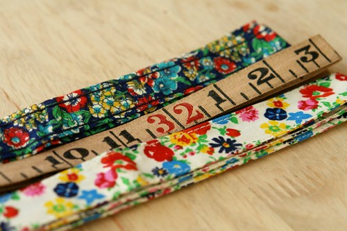 vintage ribbon + tape