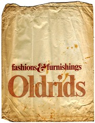An Old Oldrids Bag (JonCoupland) Tags: old boston bag jon downtown joke scan lincolnshire alternative edit furnishings coupland oldrids