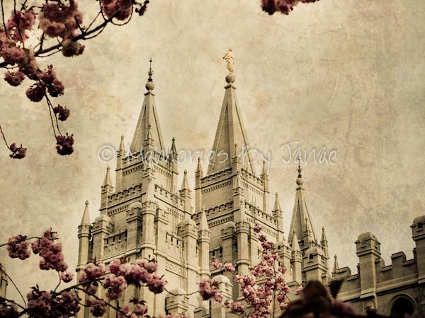 Salt Lake Vintage LDS Temple Prints -8