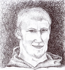 Stevie (lauritadianita) Tags: boy portrait guy loss paper greek death goatee sketch friend drawing suicide young teen american youngman grief ballpointpen strawberryblonde suicidevictim wwwlauritadianitainfo