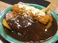 Tamale and enchilada