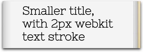 2px webkit text stroke