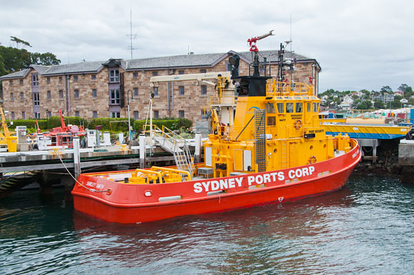Sydney Ports' fire-fighting tug Shirley Smith,