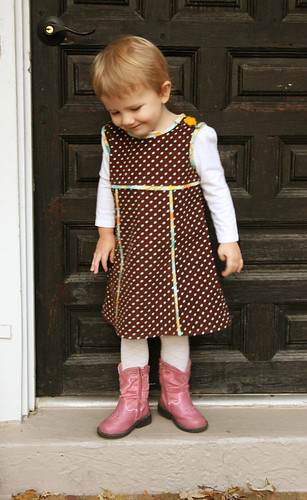 brown cord dress 6