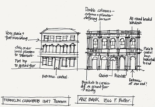 2005 'first' SKETCH - buildings in Hobart Tasmania