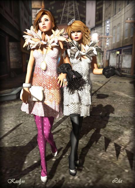 Kaelyn & Lila in Mimiri Cosmic Diva & Cosmic Vamp