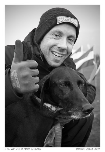 Malte Stodt & Bonny, IFSS Schlittenhunde WM 2011 Borken