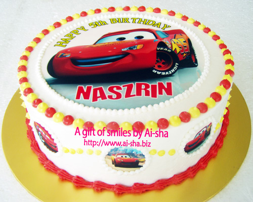 Birthday Cake Edible Image Disney Car