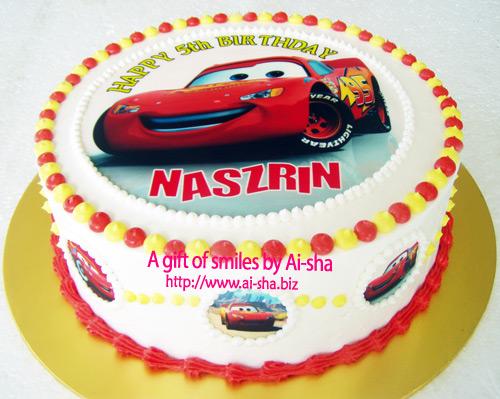 Birthday Cake Edible Image Disney Car