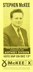 SNP Local Council Election Leaflet, 1990 (Scottish Political Archive) Tags: party mckee scotland election stirling scottish national publicity campaign snp