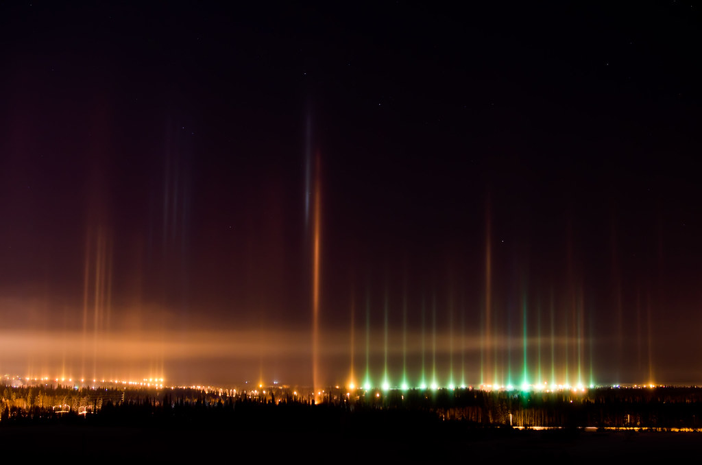 Airport light pillars