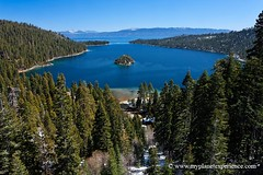Emerald Bay - Lake Tahoe, California (My Planet Experience) Tags: california trip travel blue trees vacation usa lake holiday snow mountains west tourism america landscape island photography bay us photo photographie tour place unitedstates image pics nevada sightseeing scenic tahoe laketahoe visit icon location tourist journey western destination sight traveling visiting sierranevada paysage exploration parc emerald touring emeraldbay amrique tatsunis ouest wwwmyplanetexperiencecom myplanetexperience