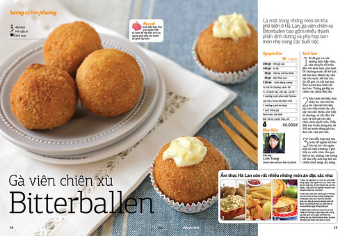 Chicken bitterballen on Family Kitchen Magazine (Nov 10)