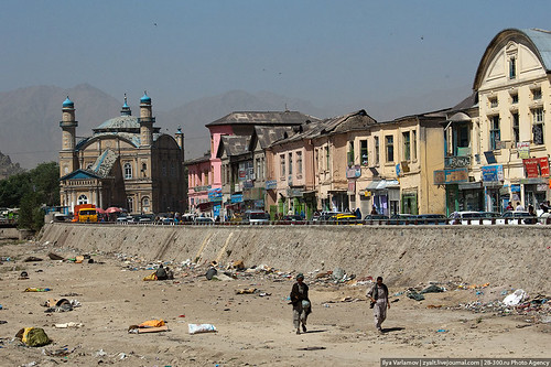 River & mosque in Kabul