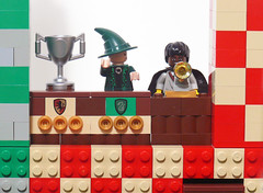 """JORDAN!"" (Oky - Space Ranger) Tags: team community lego stadium harry potter pitch build quidditch hogwarts slytherin gryffindor"