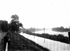 6 River, Canal and P.R.R. Titusville, NJ 1912 (rich701) Tags: blackandwhite bw vintage canal newjersey nj 1912 titusville mercercounty prr glassnegative delawareraritancanal washingtoncrossing nationalregisterofhistoricplaces pennsylvaniarailroad hopewelltownship nrhp opdyke opdycke dandr abrahamopdyketrentonphotographer
