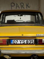 Park (Schorli_Carla) Tags: park travel urban art colors car yellow youth canon turkey geometry decay turkiye young powershot exploration g11